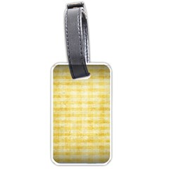 Spring Yellow Gingham Luggage Tags (two Sides) by BangZart