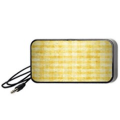 Spring Yellow Gingham Portable Speaker (black) by BangZart
