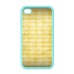 Spring Yellow Gingham Apple Iphone 4 Case (color) by BangZart