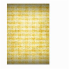 Spring Yellow Gingham Large Garden Flag (two Sides) by BangZart