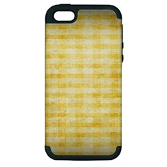 Spring Yellow Gingham Apple Iphone 5 Hardshell Case (pc+silicone) by BangZart