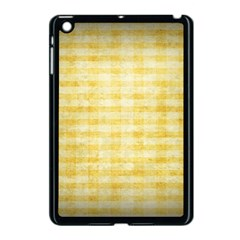Spring Yellow Gingham Apple Ipad Mini Case (black) by BangZart