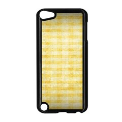 Spring Yellow Gingham Apple Ipod Touch 5 Case (black) by BangZart