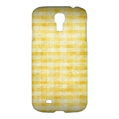 Spring Yellow Gingham Samsung Galaxy S4 I9500/i9505 Hardshell Case by BangZart