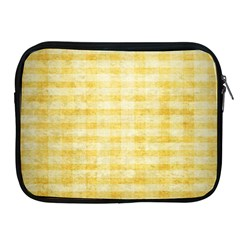 Spring Yellow Gingham Apple Ipad 2/3/4 Zipper Cases by BangZart