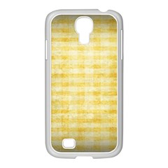 Spring Yellow Gingham Samsung Galaxy S4 I9500/ I9505 Case (white)