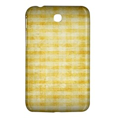 Spring Yellow Gingham Samsung Galaxy Tab 3 (7 ) P3200 Hardshell Case  by BangZart