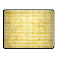 Spring Yellow Gingham Double Sided Fleece Blanket (small)  by BangZart