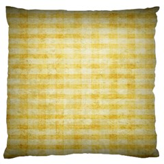 Spring Yellow Gingham Standard Flano Cushion Case (one Side) by BangZart