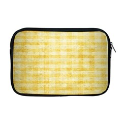 Spring Yellow Gingham Apple Macbook Pro 17  Zipper Case by BangZart