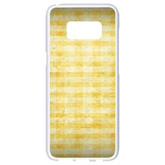 Spring Yellow Gingham Samsung Galaxy S8 White Seamless Case by BangZart