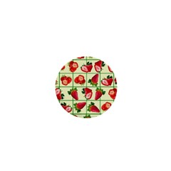 Strawberries Pattern 1  Mini Magnets by SuperPatterns