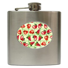 Strawberries Pattern Hip Flask (6 Oz) by SuperPatterns