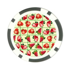 Strawberries Pattern Poker Chip Card Guard (10 Pack) by SuperPatterns