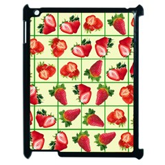 Strawberries Pattern Apple Ipad 2 Case (black) by SuperPatterns