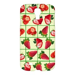 Strawberries Pattern Samsung Galaxy S4 I9500/i9505 Hardshell Case by SuperPatterns