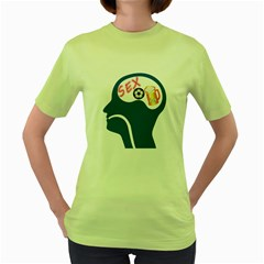 Male Psyche Women s Green T Shirt by linceazul
