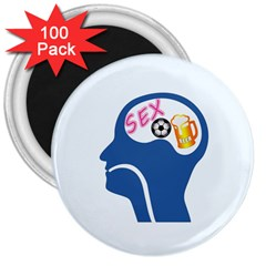 Male Psyche 3  Magnets (100 Pack) by linceazul