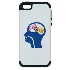 Male Psyche Apple Iphone 5 Hardshell Case (pc+silicone) by linceazul