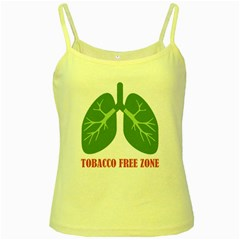 Tobacco Free Zone Yellow Spaghetti Tank by linceazul