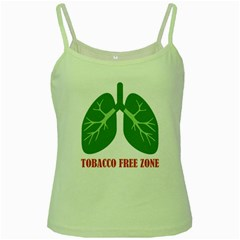 Tobacco Free Zone Green Spaghetti Tank by linceazul