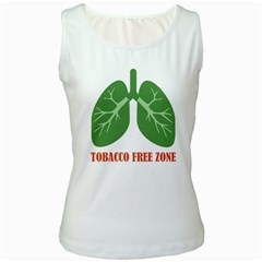 Tobacco Free Zone Women s White Tank Top by linceazul