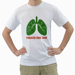 Tobacco Free Zone Men s T Shirt (white) (two Sided) by linceazul