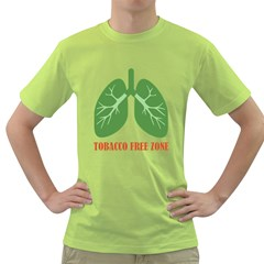 Tobacco Free Zone Green T Shirt by linceazul