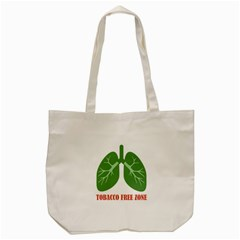 Tobacco Free Zone Tote Bag (cream) by linceazul