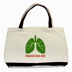 Tobacco Free Zone Basic Tote Bag by linceazul