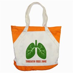 Tobacco Free Zone Accent Tote Bag by linceazul