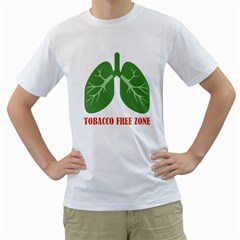 Tobacco Free Zone Men s T Shirt (white)  by linceazul