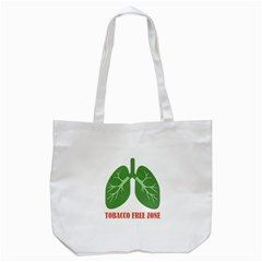 Tobacco Free Zone Tote Bag (white) by linceazul