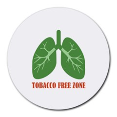 Tobacco Free Zone Round Mousepads by linceazul