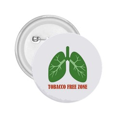 Tobacco Free Zone 2 25  Buttons by linceazul
