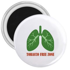 Tobacco Free Zone 3  Magnets by linceazul