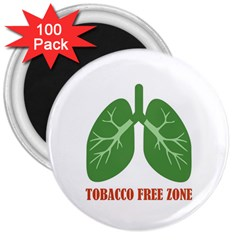 Tobacco Free Zone 3  Magnets (100 Pack) by linceazul