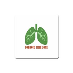 Tobacco Free Zone Square Magnet by linceazul