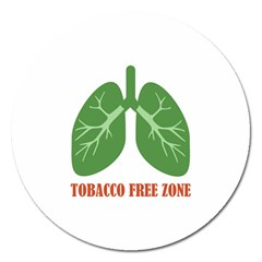 Tobacco Free Zone Magnet 5  (round) by linceazul