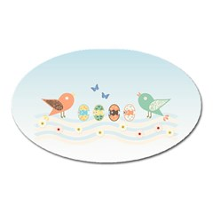 Cute Birds Oval Magnet by linceazul
