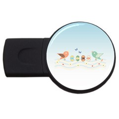 Cute Birds Usb Flash Drive Round (2 Gb) by linceazul