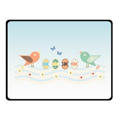 Cute Birds Fleece Blanket (small) by linceazul