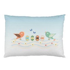 Cute Birds Pillow Case (two Sides) by linceazul