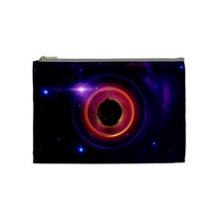 The Little Astronaut On A Tiny Fractal Planet Cosmetic Bag (medium)