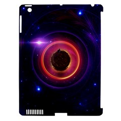 The Little Astronaut On A Tiny Fractal Planet Apple Ipad 3/4 Hardshell Case (compatible With Smart Cover) by jayaprime