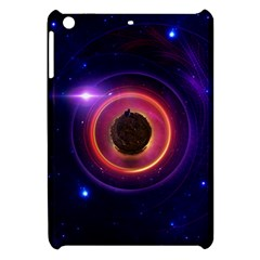 The Little Astronaut On A Tiny Fractal Planet Apple Ipad Mini Hardshell Case by jayaprime