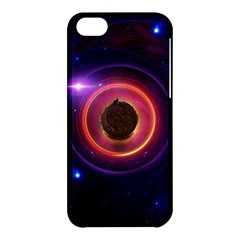 The Little Astronaut On A Tiny Fractal Planet Apple Iphone 5c Hardshell Case by jayaprime