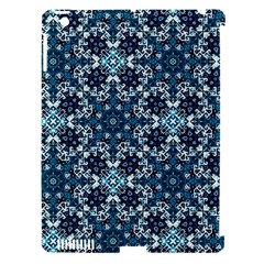 Boho Blue Fancy Tile Pattern Apple Ipad 3/4 Hardshell Case (compatible With Smart Cover) by KirstenStar