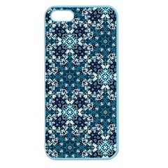 Boho Blue Fancy Tile Pattern Apple Seamless Iphone 5 Case (color) by KirstenStar