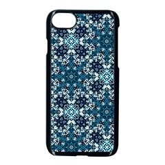 Boho Blue Fancy Tile Pattern Apple Iphone 7 Seamless Case (black) by KirstenStar